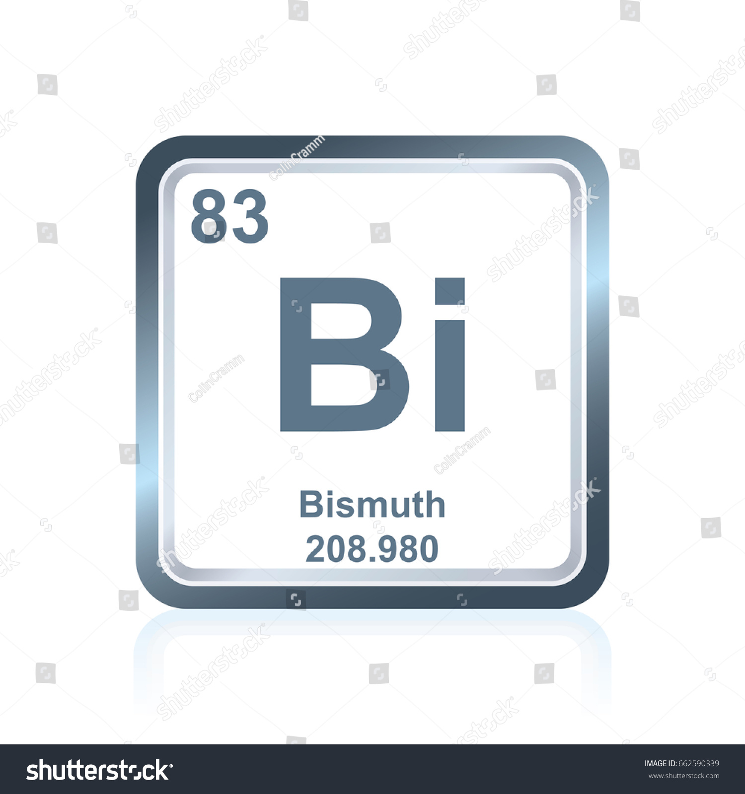 Symbol chemical element bismuth seen on stock vector 662590339 symbol of chemical element bismuth as seen on the periodic table of the elements including buycottarizona