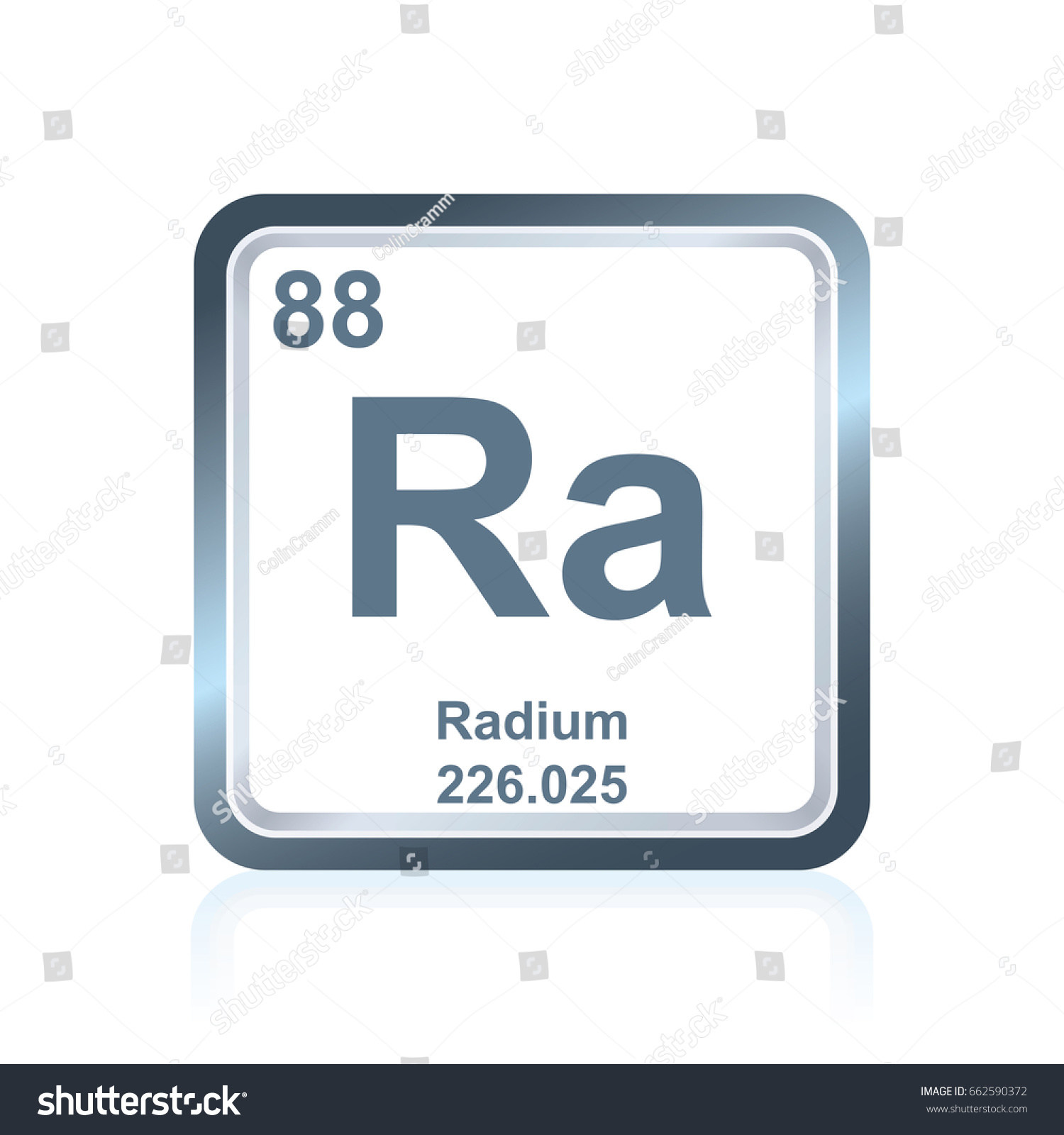 Symbol chemical element radium seen on stock vector 662590372 symbol of chemical element radium as seen on the periodic table of the elements including gamestrikefo Images