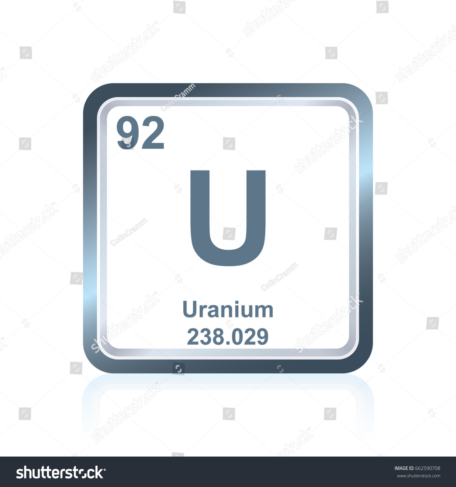 Symbol chemical element uranium seen on stock vector 662590708 symbol of chemical element uranium as seen on the periodic table of the elements including gamestrikefo Image collections