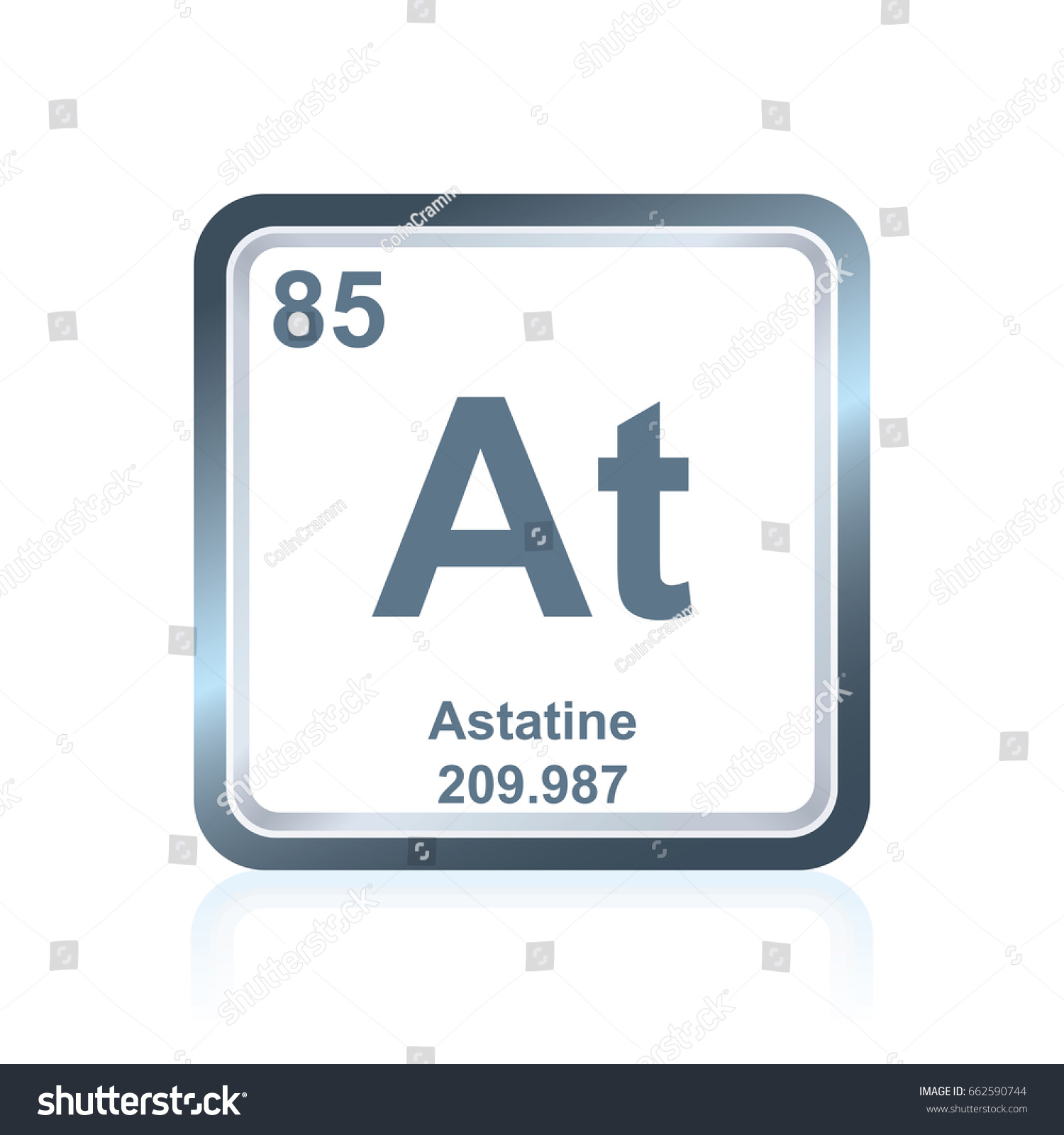 Symbol chemical element astatine seen on stock vector 662590744 symbol of chemical element astatine as seen on the periodic table of the elements including gamestrikefo Gallery