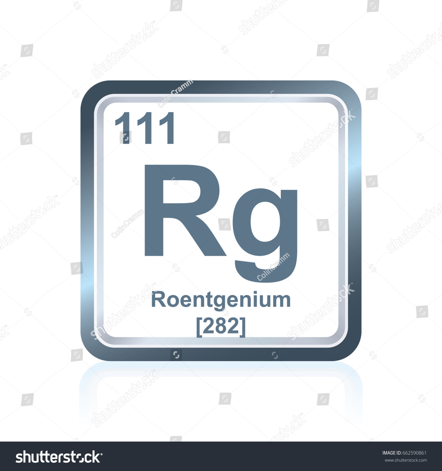 Symbol chemical element roentgenium seen on stock vector 662590861 symbol of chemical element roentgenium as seen on the periodic table of the elements including buycottarizona Images