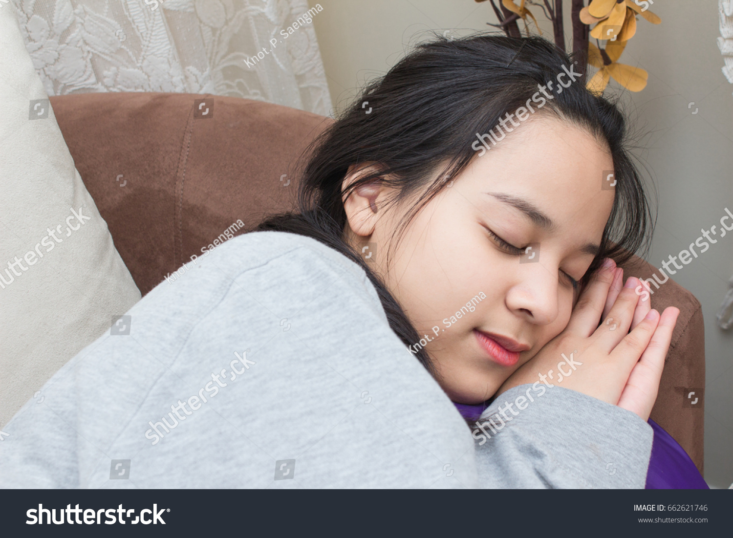 Teenager cute girl fall asleep on stock photo 662621746 shutterstock teenager cute girl fall asleep on sofa and have a good nap ccuart Gallery