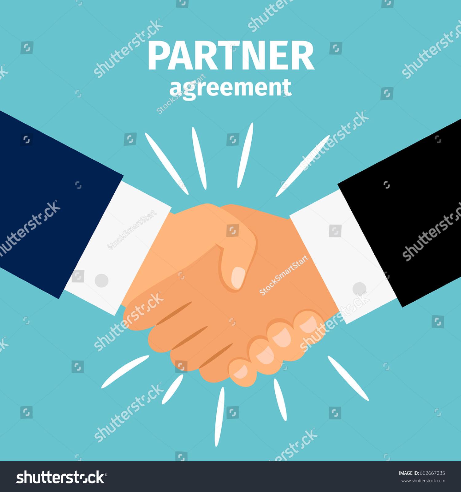business partnership handshake vector illustration deal stock vector