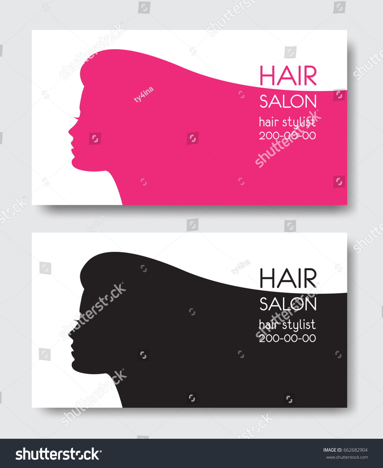 Hair salon business card templates beautiful stock vector hair salon business card templates with beautiful woman face silhouette silhouette of woman with long magicingreecefo Images