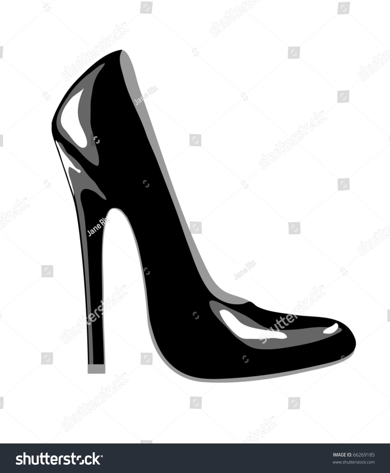 A High-Heeled Black Court Shoe For Business Or Party Wear ...