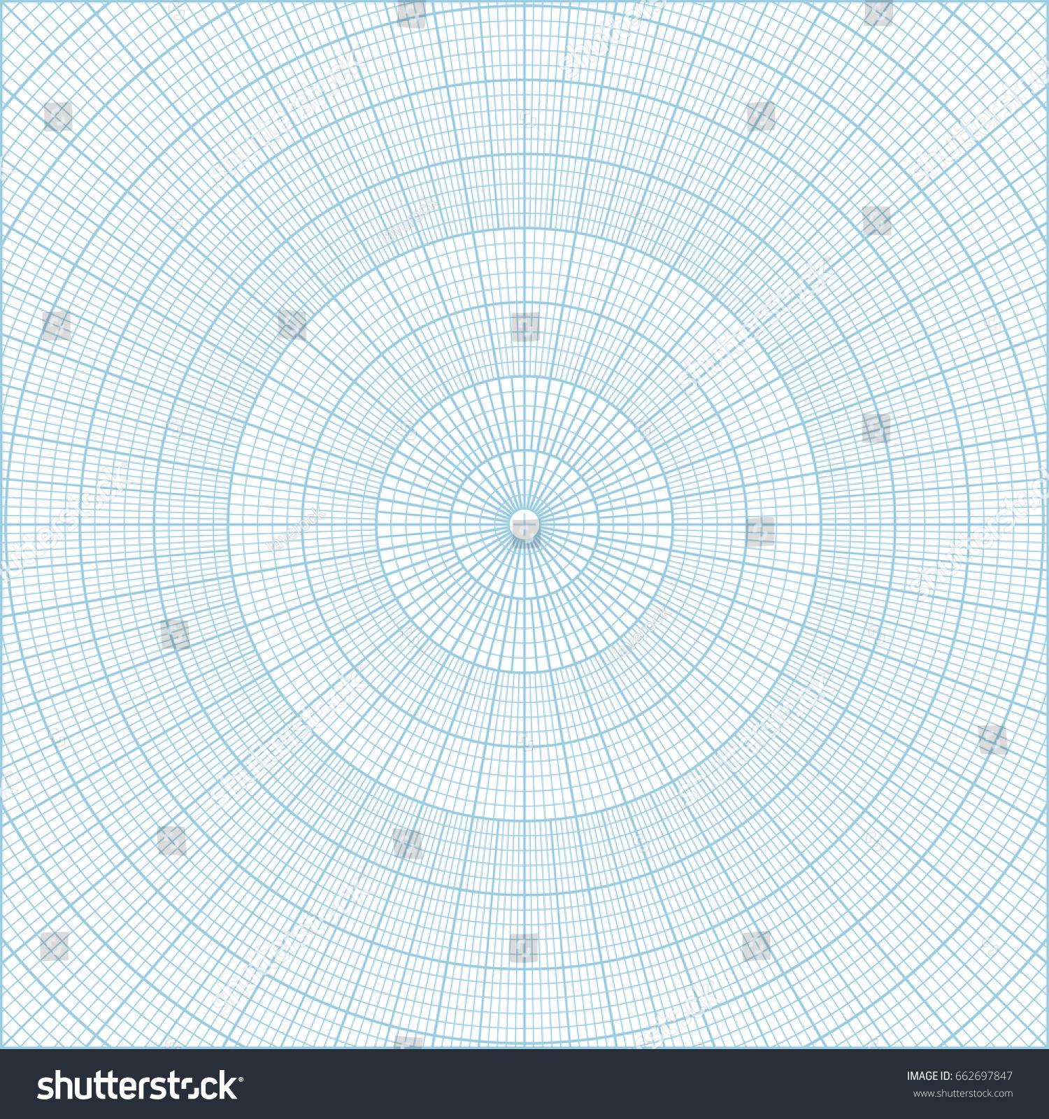 vetor stock de blue polar coordinate circular grid graph livre de