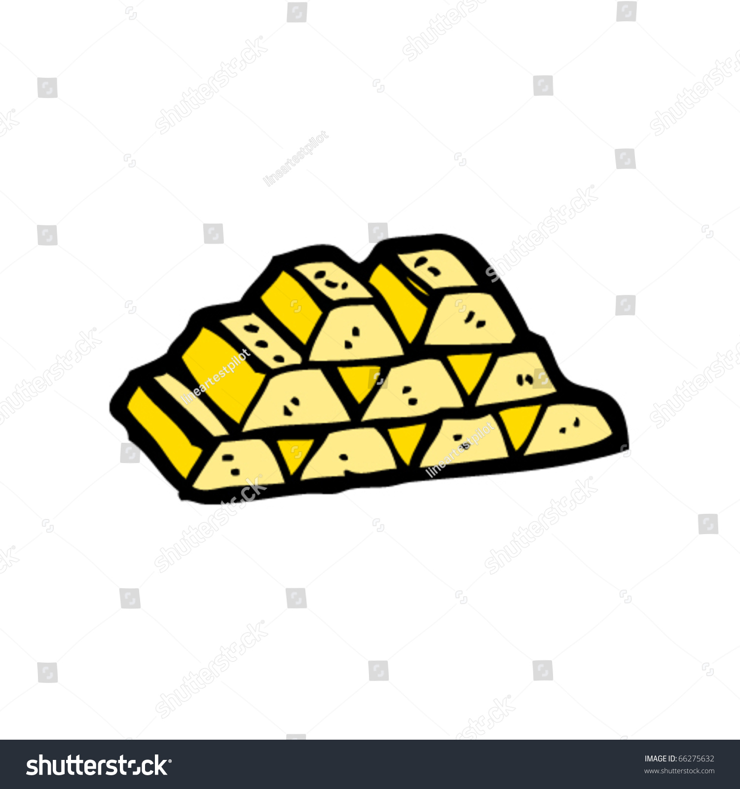 Stack Gold Bars Cartoon Stock Vector 66275632 - Shutterstock