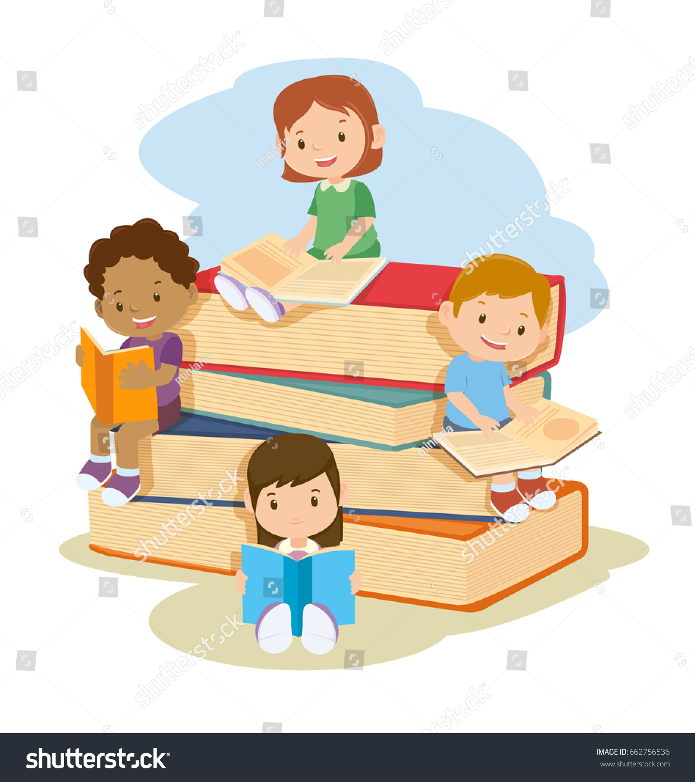 Image result for children learning reading clipart
