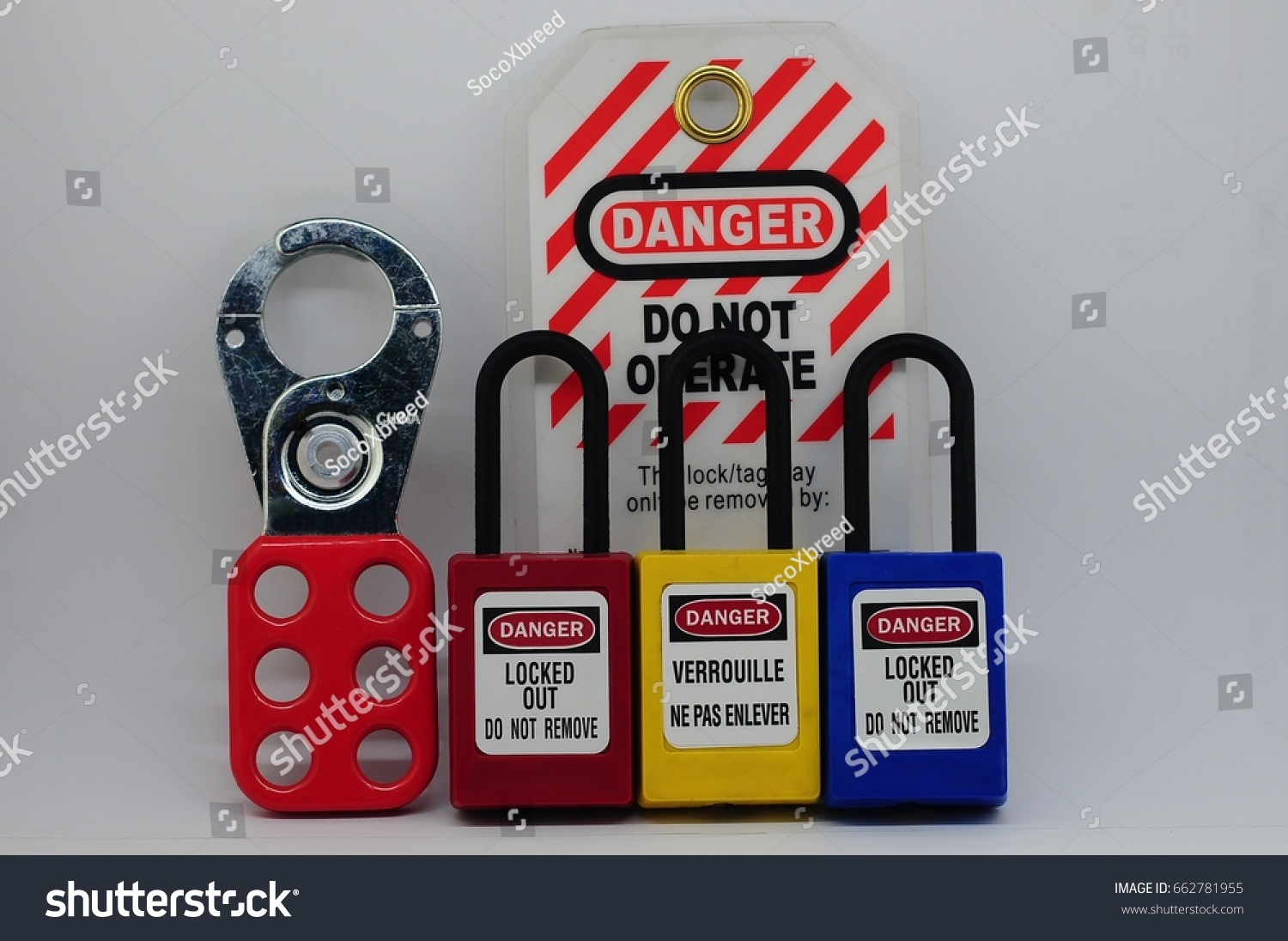 Lock out & Tag out,Lock out station , machine - specific lockout device and lockout point #662781955