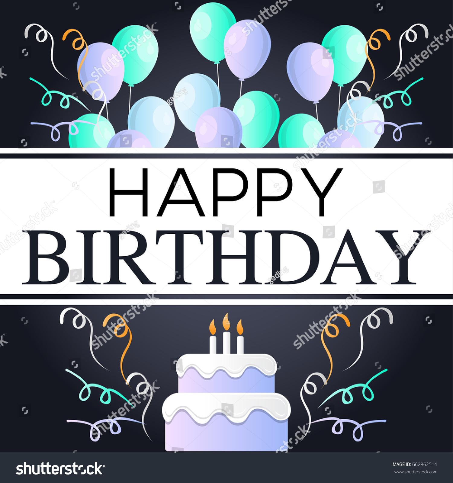 Birthday Invitation Background Design Vector De Stock Libre De