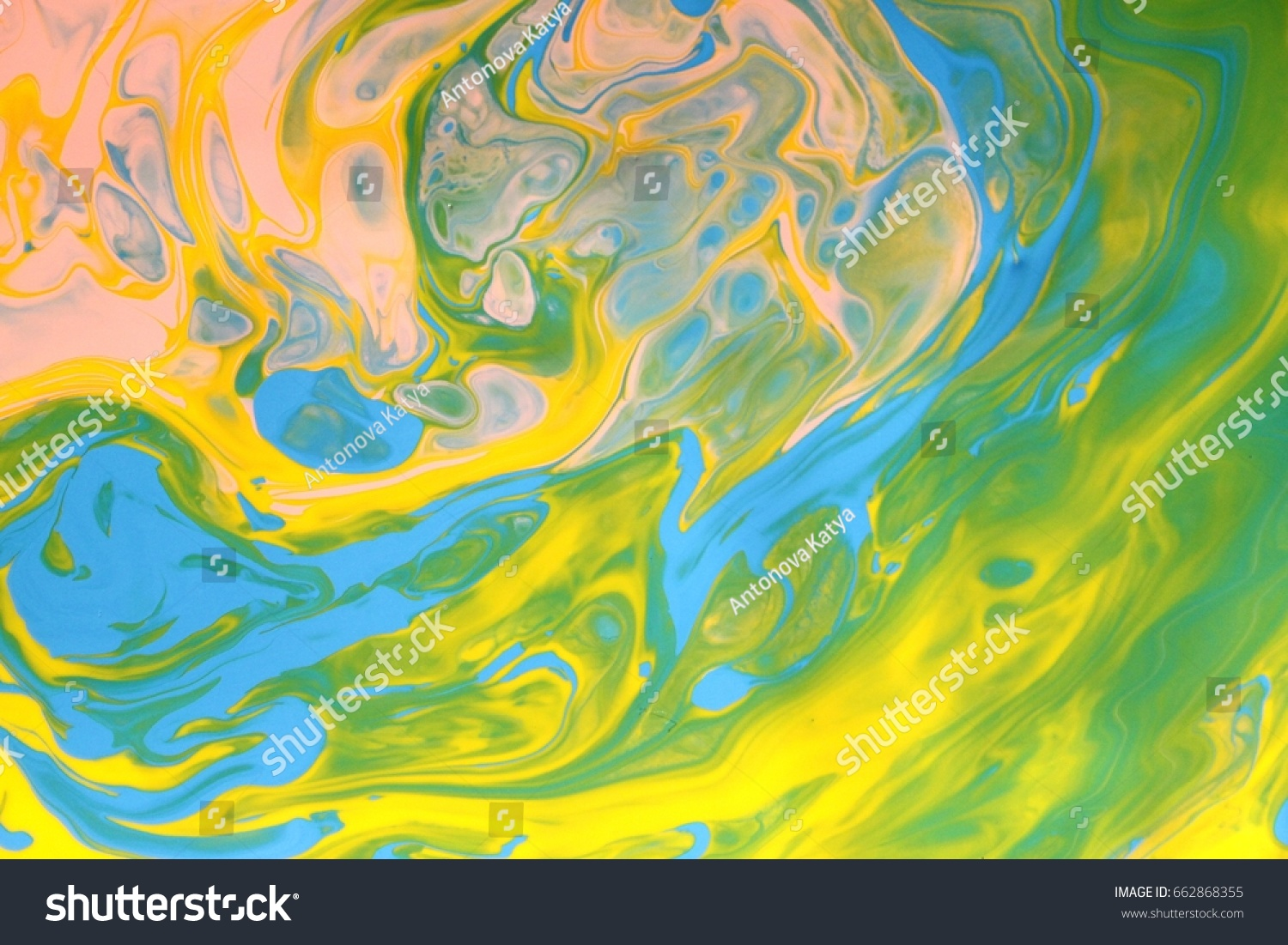 Green blue pink marble texture color mix. art painting, fashion ...