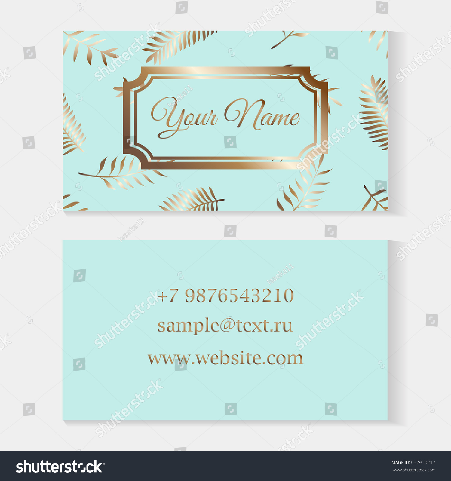 Floral Business Card Templates Fashion Cards Stock Vector ...