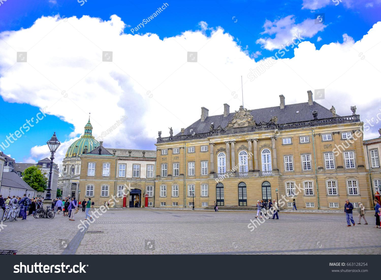 Copenhagen Denmark July Amalienborg Palace Stock Photo - Where is copenhagen located