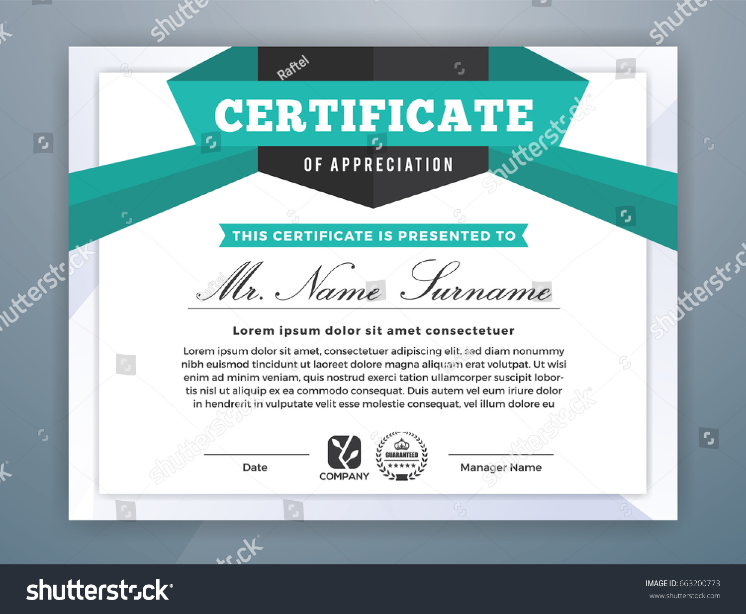 Multipurpose Modern Professional Certificate Template Design Stock ...