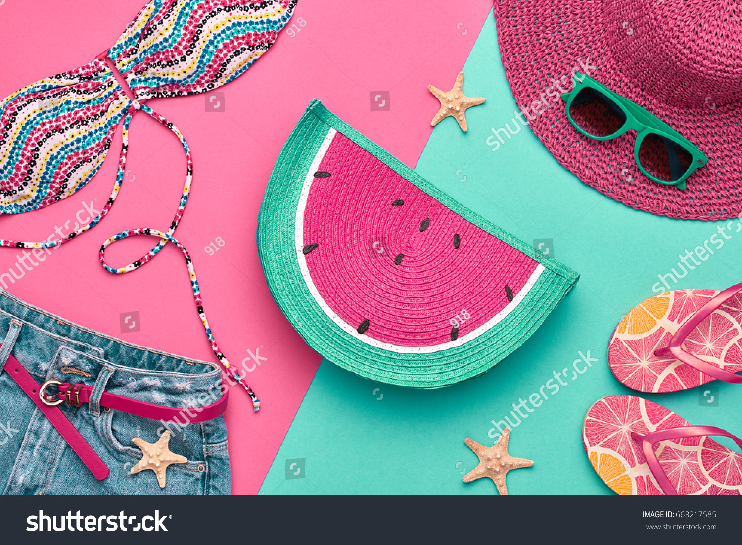 Fashion Summer Clothes Accessories Set Beach Stock Photo (Royalty ...