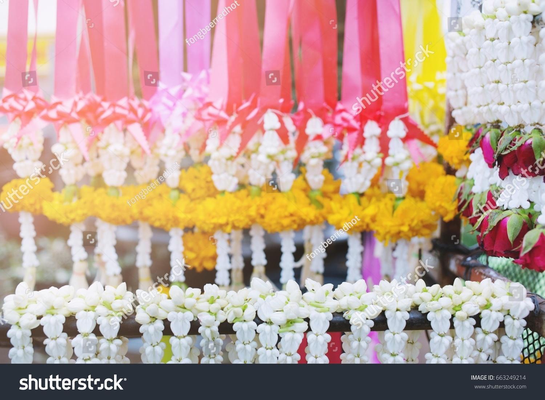Beautiful Flower Garland Fresh Flower Thai Stock Photo Edit Now