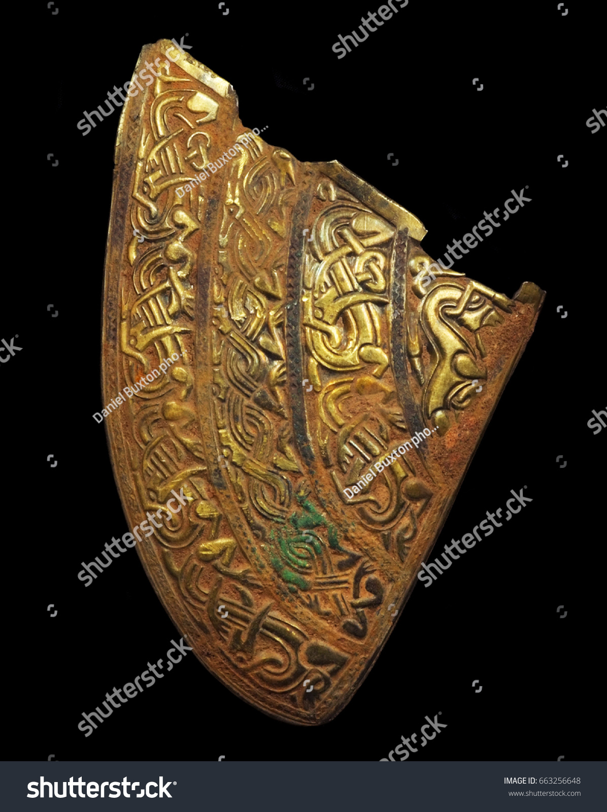 Cheek piece staffordshire hoard largest hoard stock photo cheek piece staffordshire hoard largest hoard of anglo saxon gold ever found buycottarizona Images