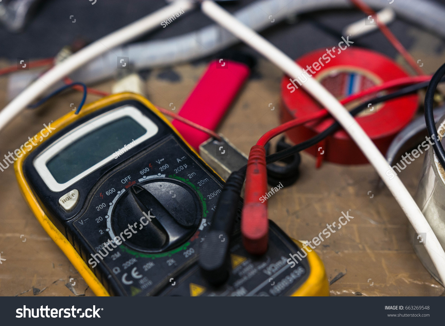 Digital multimeter on work table stock photo 663269548 shutterstock greentooth Image collections