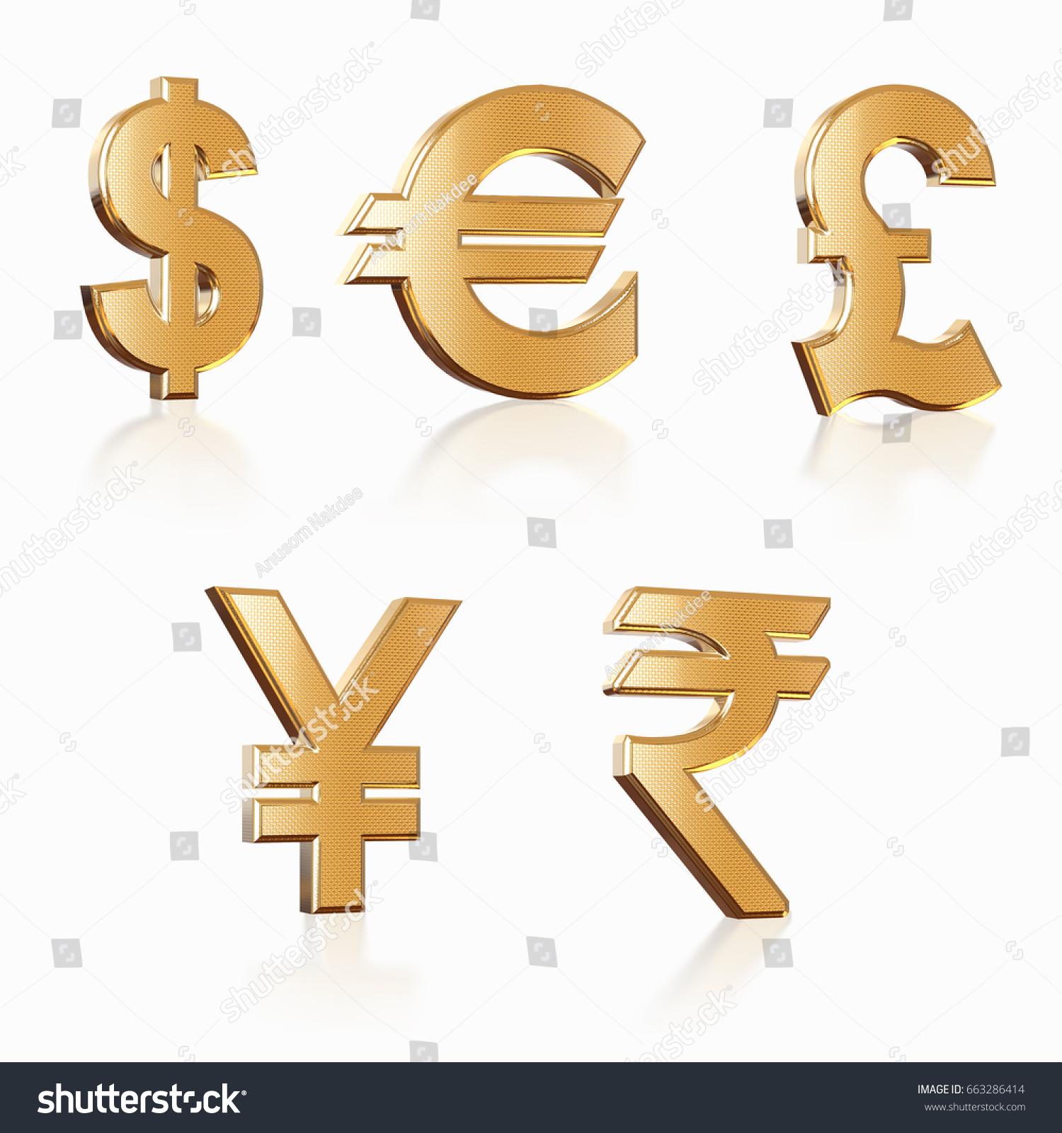 Golden currency dollar euro yenpound rupee stock illustration golden currency dollar euro yenpound rupee money symbol with buycottarizona Gallery