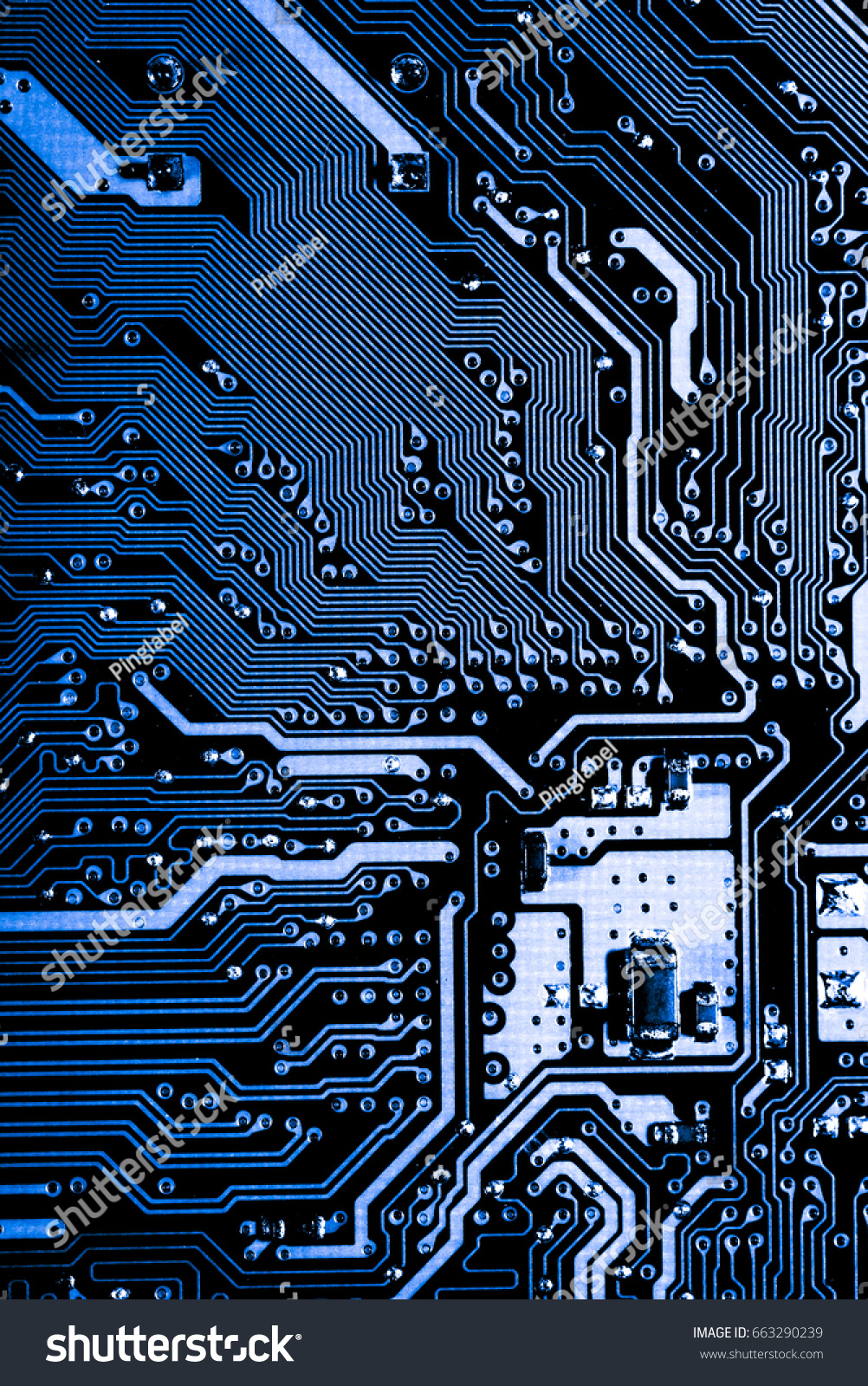 Abstract Close Electronic Circuits Technology On Stock Photo Edit Circuit And Logic Design Up Of In Mainboard Computer Background Board
