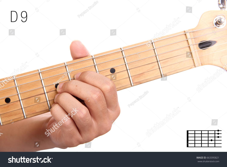 D 9 Advanced Guitar Keys Series Closeup Stock Photo Edit Now