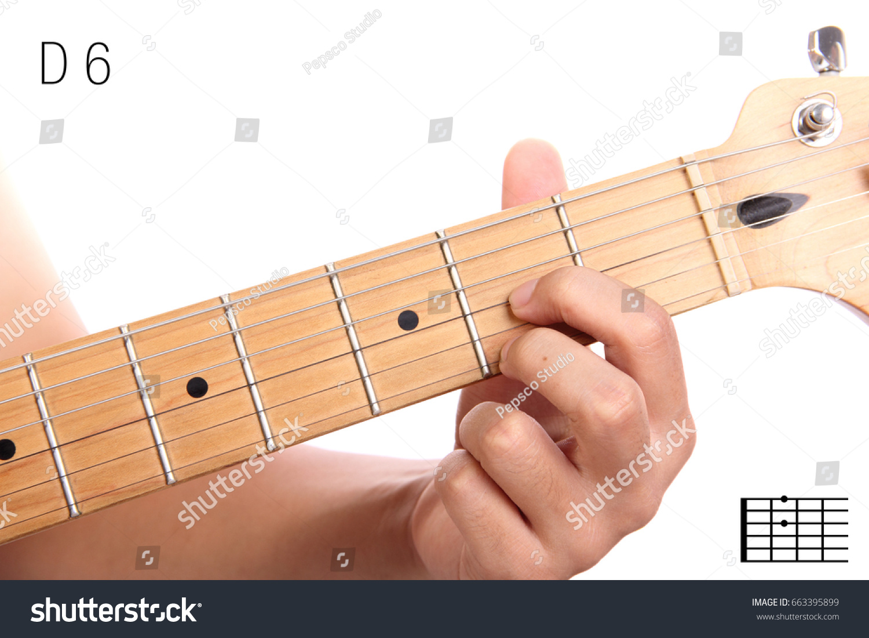 D 6 Advanced Guitar Keys Series Closeup Stock Photo Edit Now