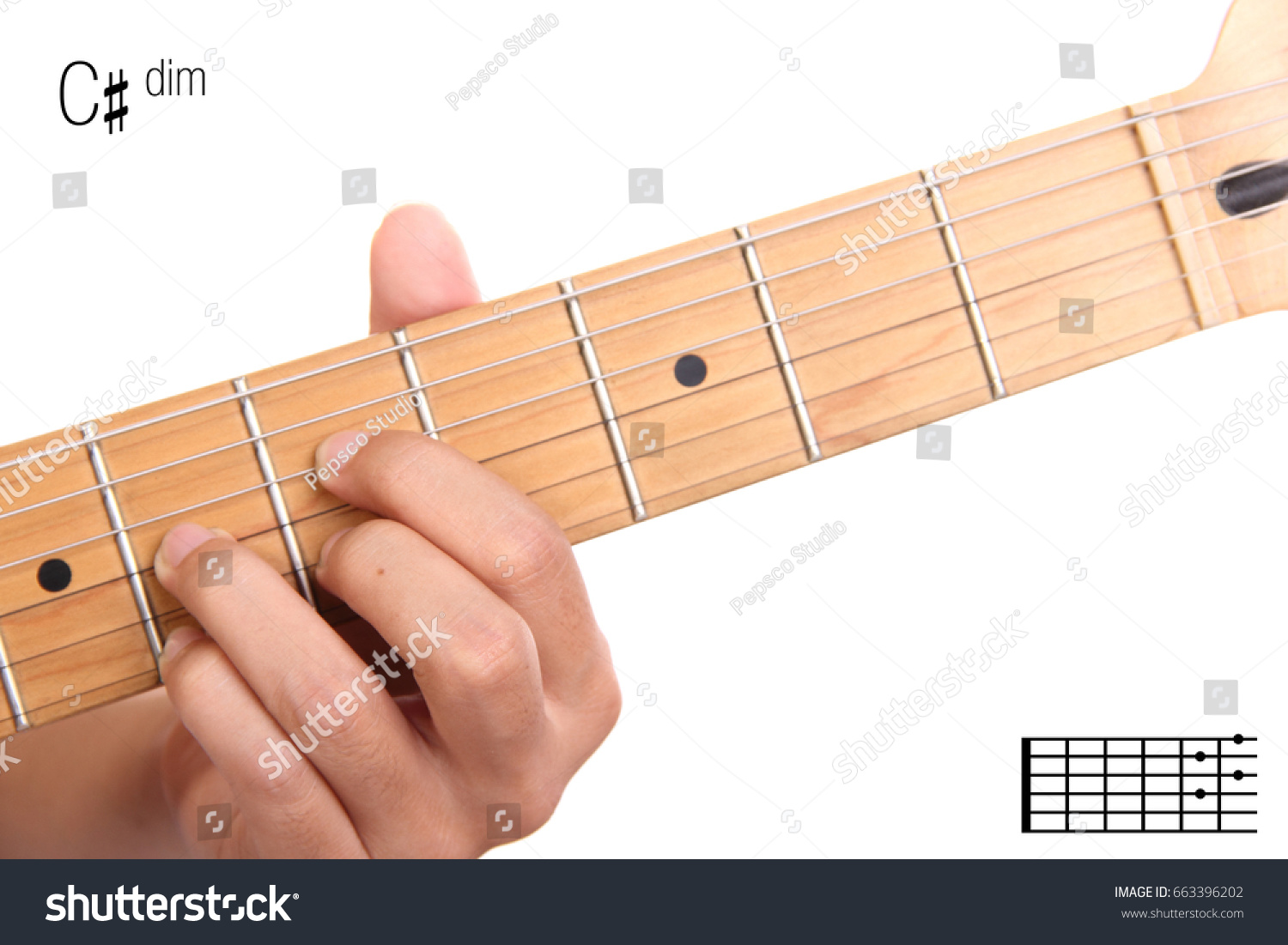 Cdim Advanced Guitar Keys Series Closeup Stock Photo Edit Now