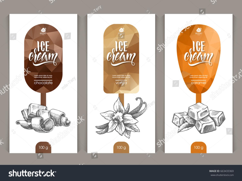 Vector Set Templates Packaging Ice Cream Stock Photo (Photo, Vector ...