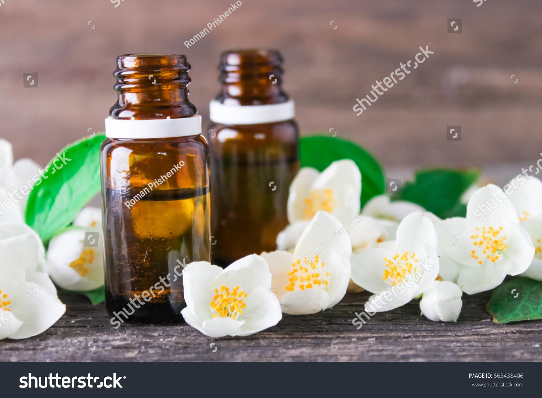 Jasmine Essential Oil And Jasmine Flowers Ez Canvas
