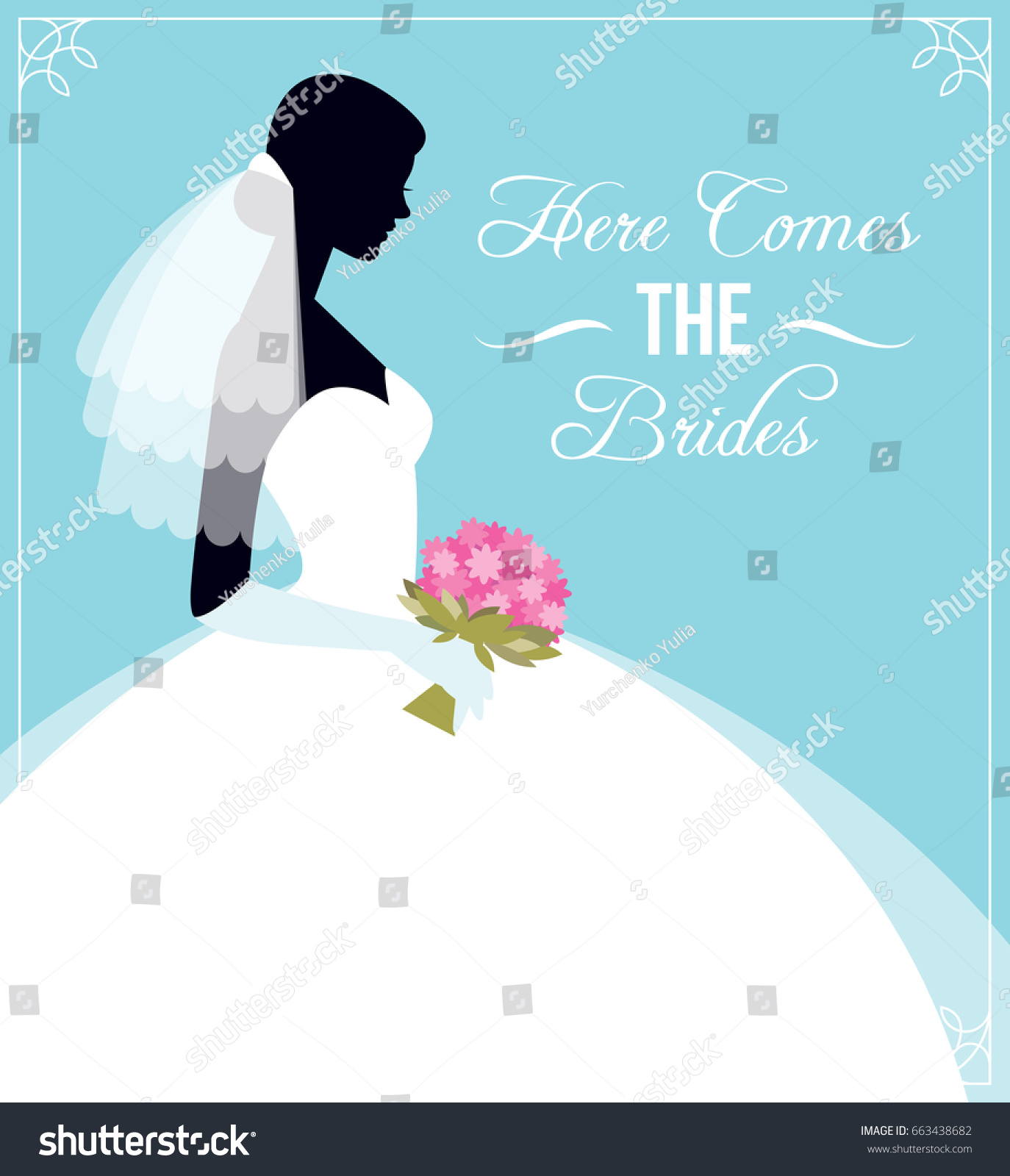 Here Comes Bride Template Flyer Wedding Stock Vector Royalty Free 663438682,Wedding Sunflower Yellow Flower Girl Dresses