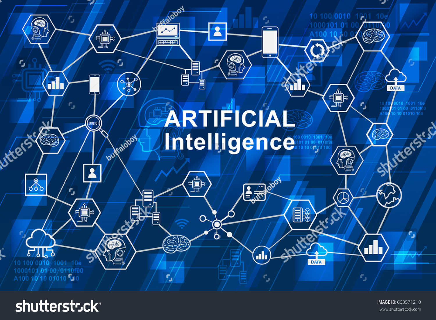 Artificial Intelligence Ai Infographic Network Concept ...