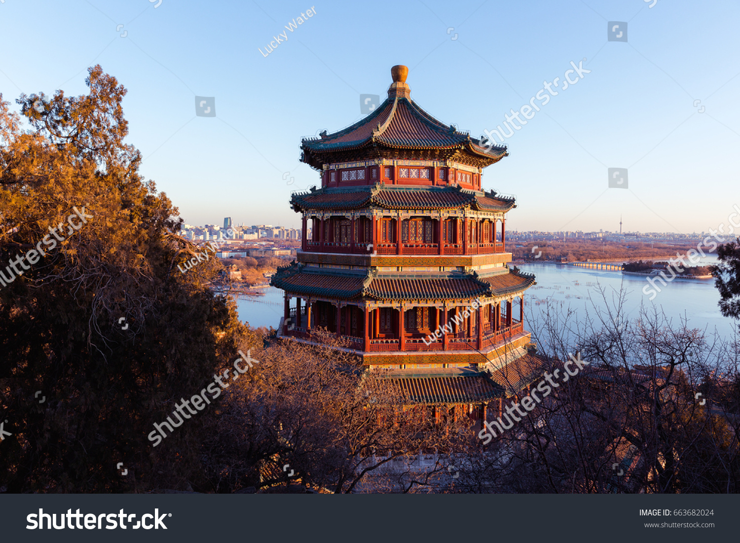 Tower Buddhist Incense Famous Ancient Architecture Stock Photo Safe