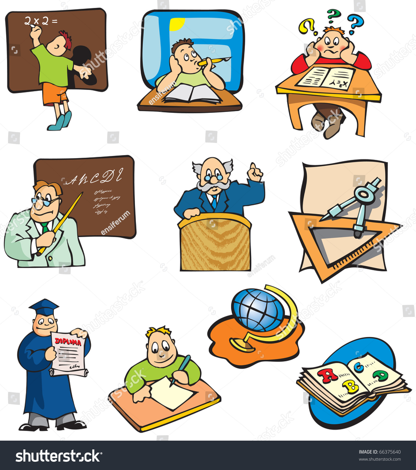 Schulklasse im unterricht clipart  Collection Education Cartoon Pictures Students Teachers ...