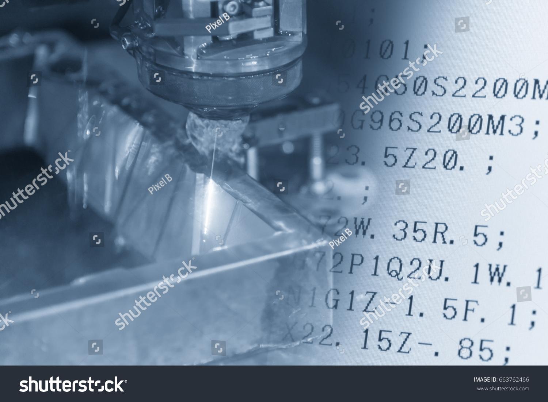 Closeup Wire EDM CNC Machine Cutting Stock Photo (Royalty Free ...