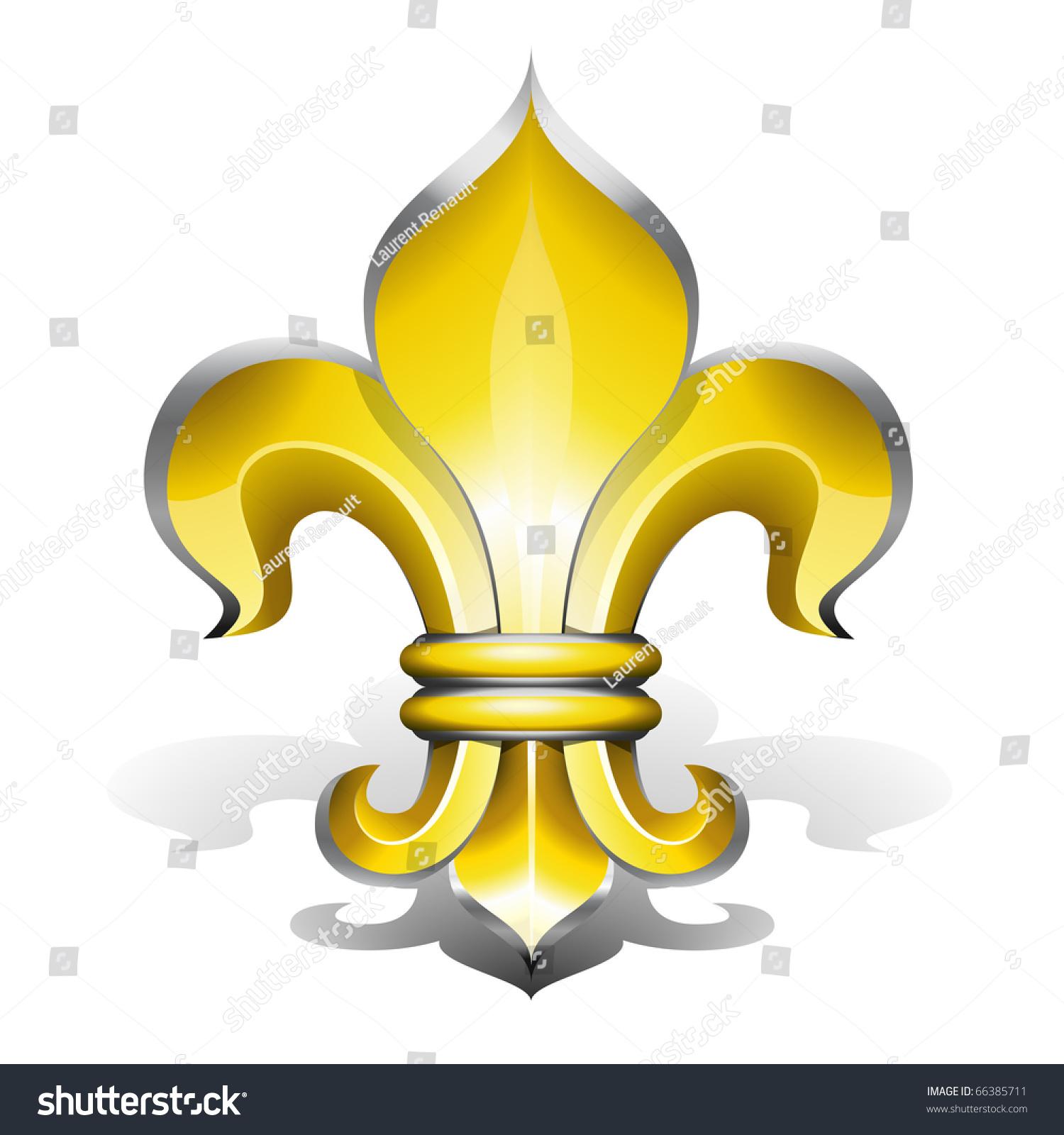 Fleur De Lys Antique Symbol French Stock Vector 66385711 ...