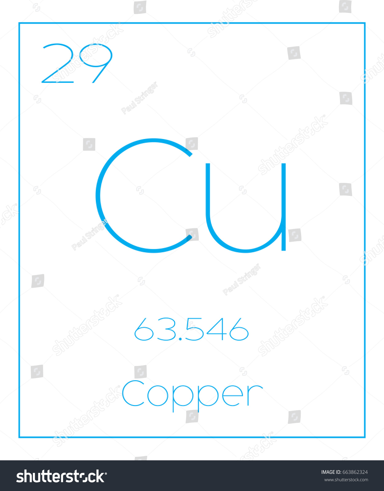 Illustration periodic element copper stock illustration 663862324 an illustration of the periodic element copper buycottarizona