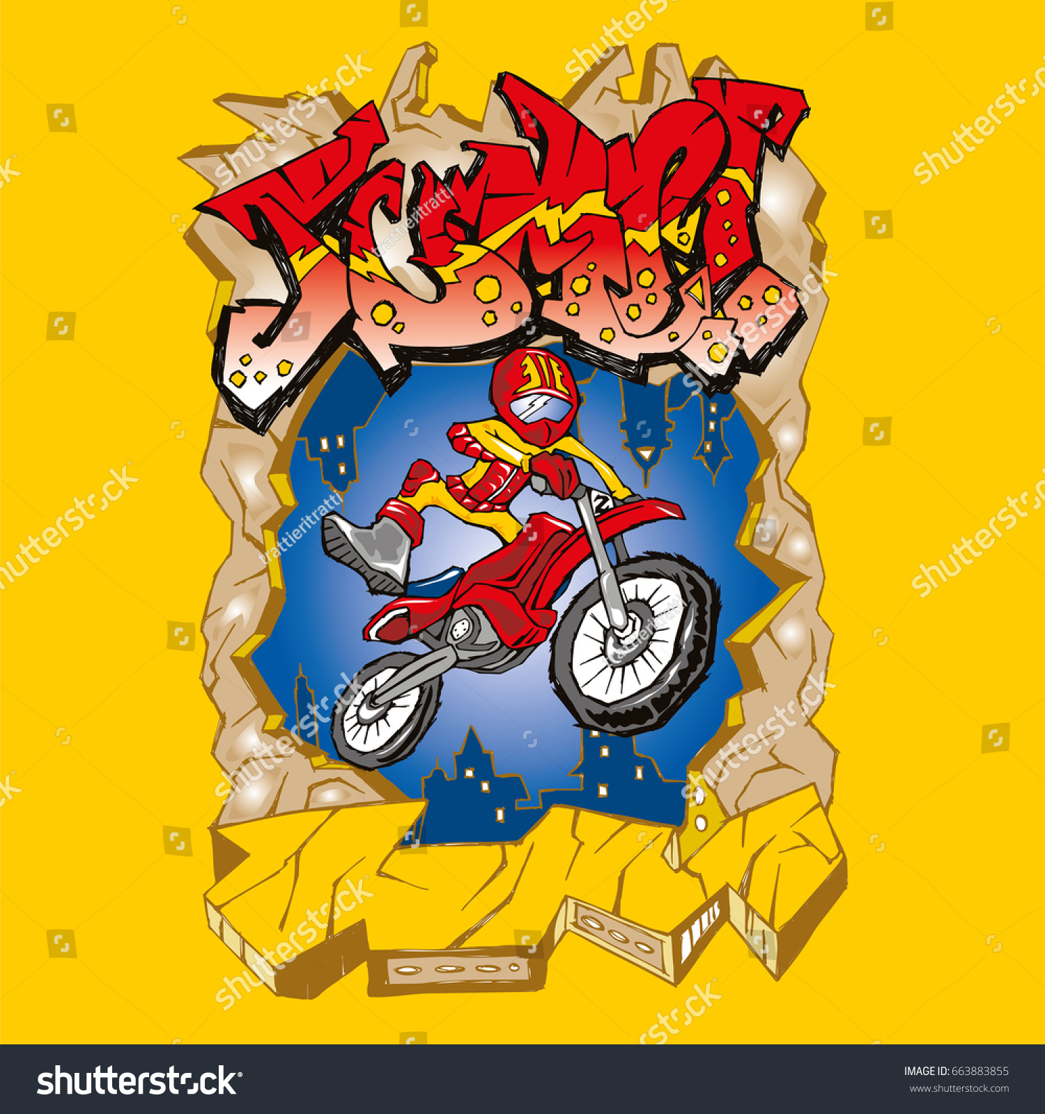 Perfect Motocross Wall Art Ensign - The Wall Art Decorations ...