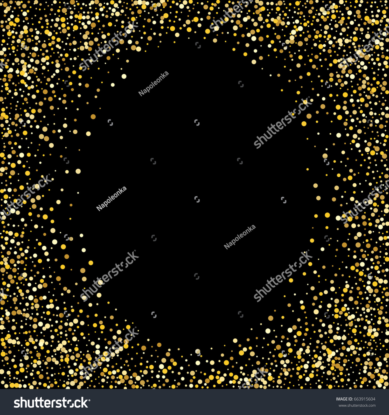 black and gold frame png. Gold Frame. Golden Square Oval Frame On Black Background. Glitter Template And Png ,