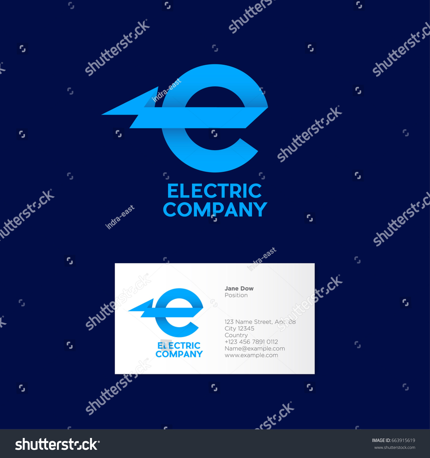 Electric company logo power emblem industrial stock vector electric company logo power emblem industrial logo the letter e with magicingreecefo Images