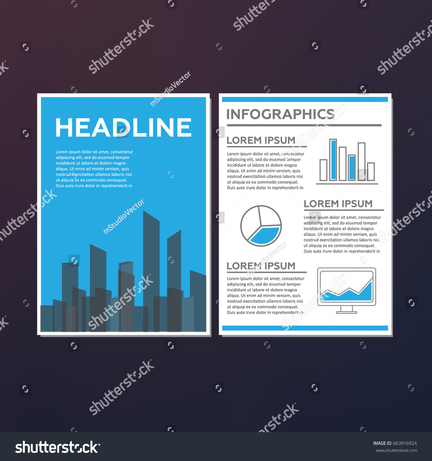 Abstract Technology Brochure Template Stock Vector - Technology brochure template