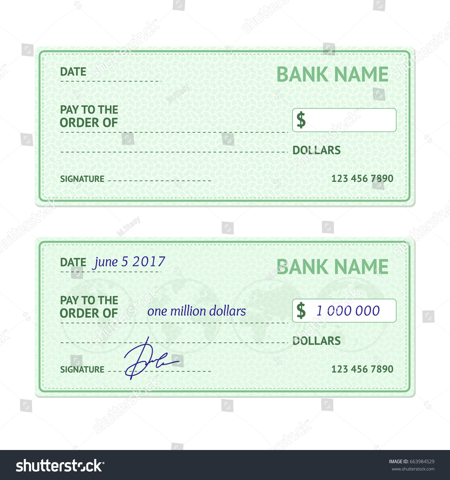 template blank classic bank check business stock illustration
