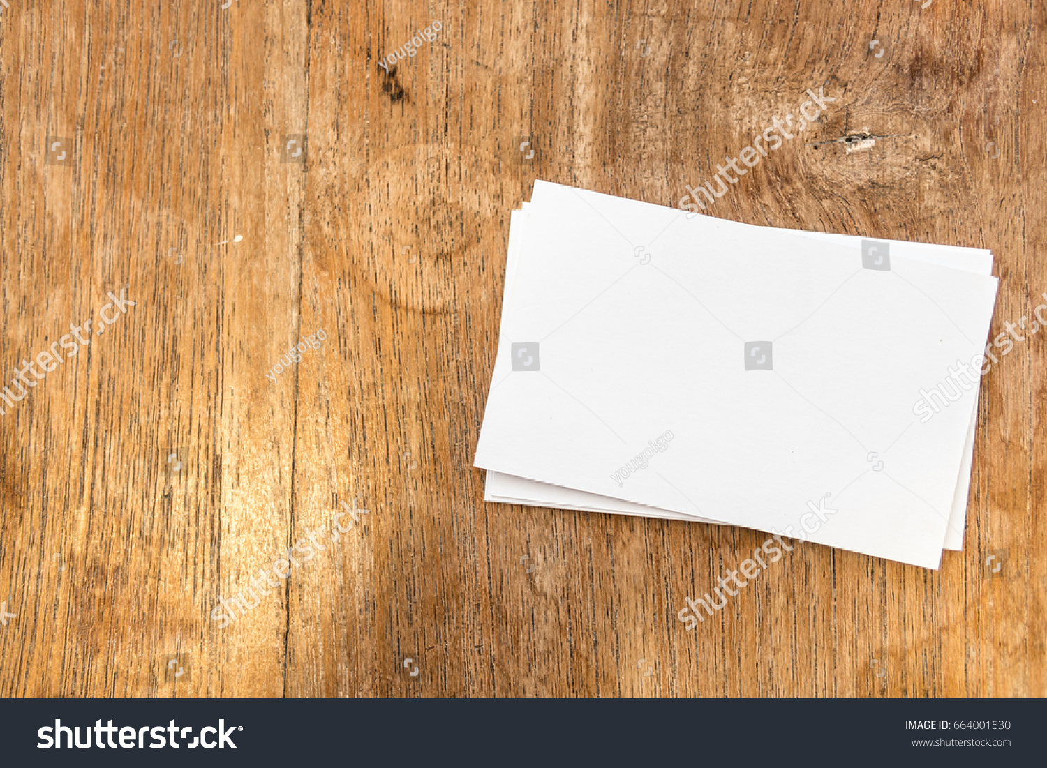Blank Business Card Professionalwhite Paper Card Stock Photo ...