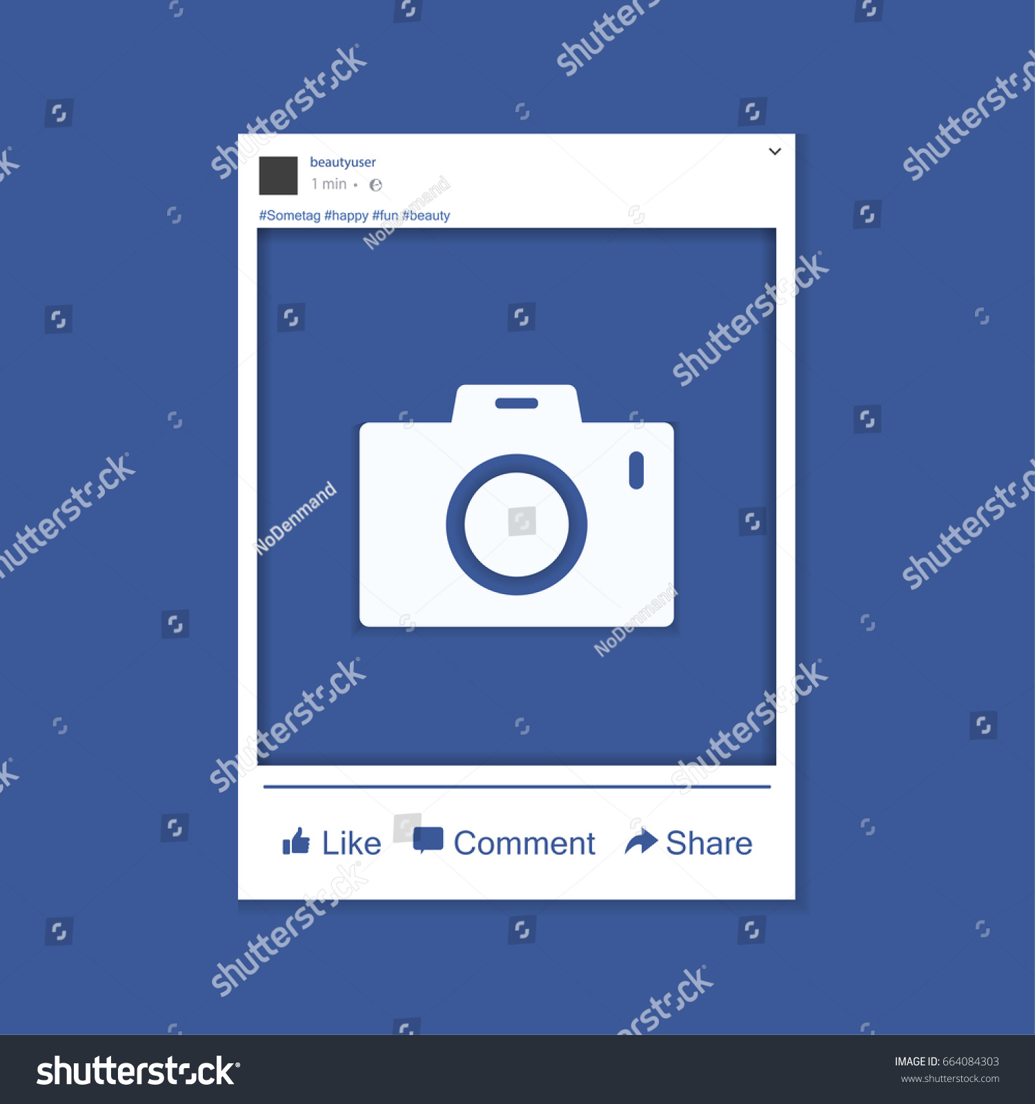 photo frame inspired by facebook friends stock vector royalty free