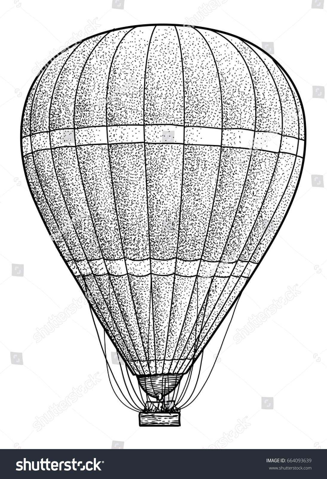 pin drawn hot air balloon line drawing 1. drawing how to draw ...
