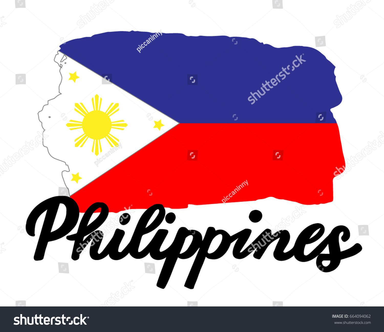 Philippines flag national symbol philippines lettering stock philippines flag the national symbol of the philippines with the lettering name of the country buycottarizona Images