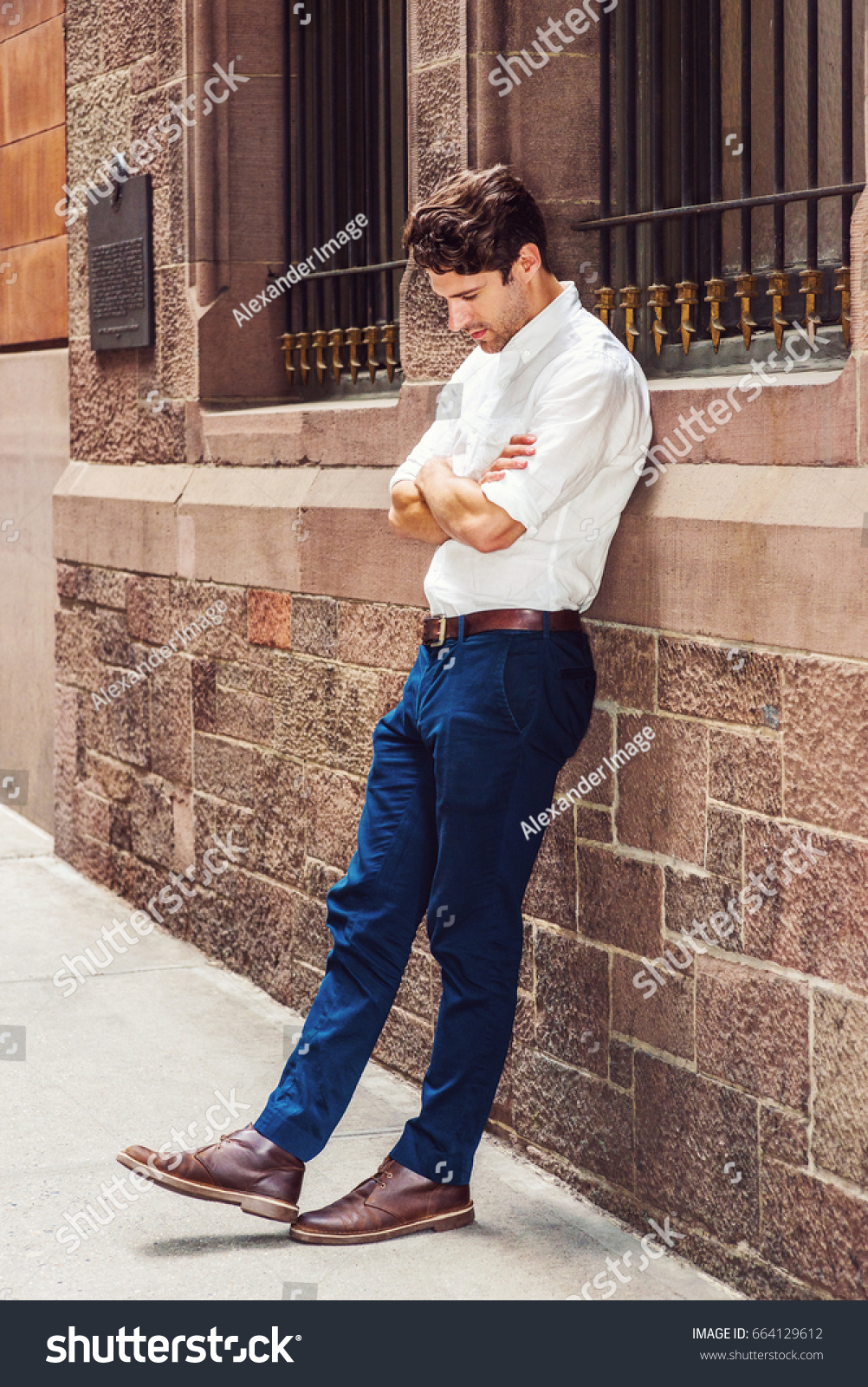 white shirt with blue pant