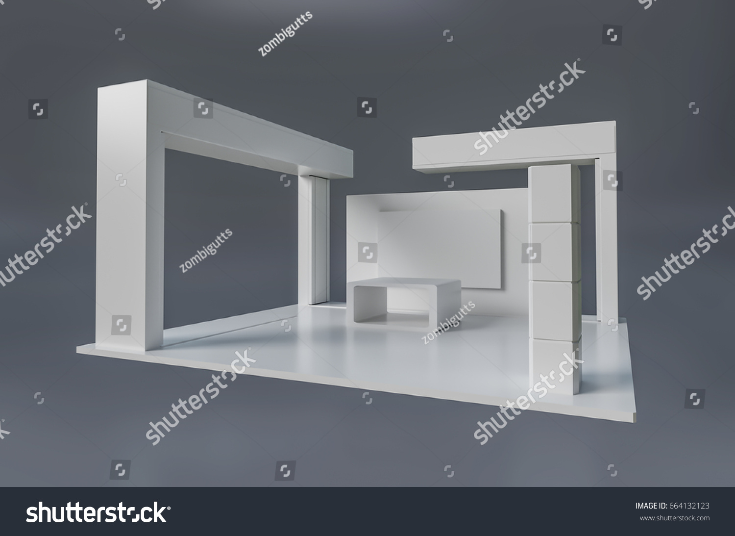 Exhibition Booth Stand : Brand exhibition booth stand template used stock illustration