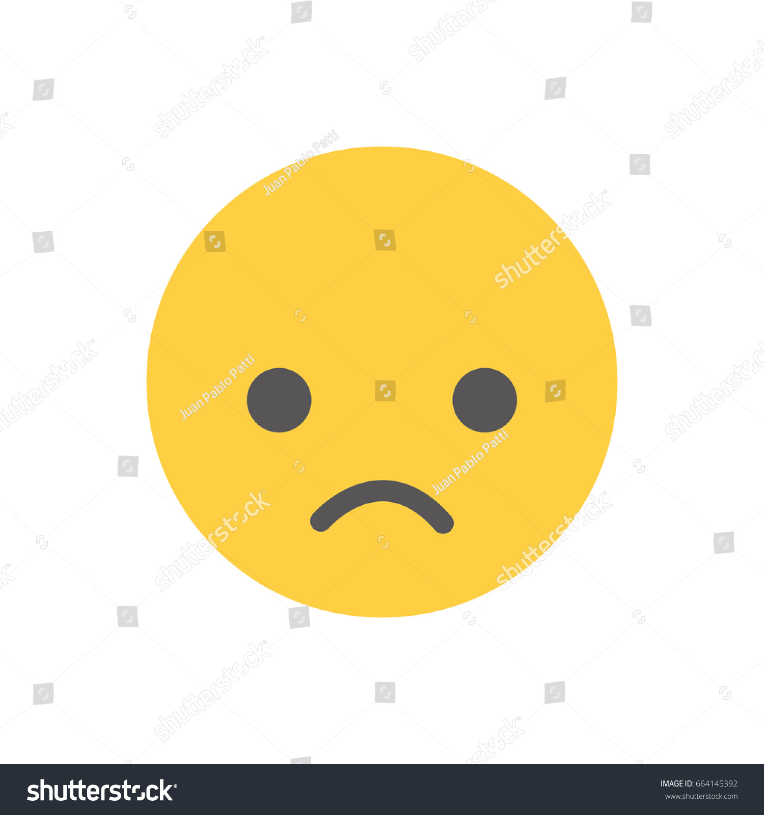 Slightly frowning face emoticon vector illustration stock vector slightly frowning face emoticon vector illustration flat design buycottarizona Gallery