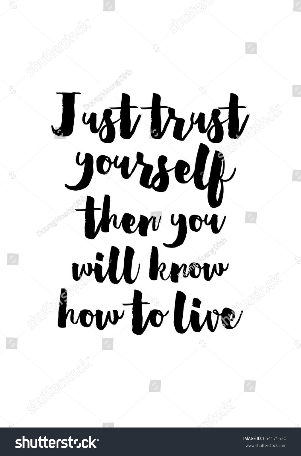 Just Live Life Quotes Lettering Quotes Motivation About Life Quote Stock Vector