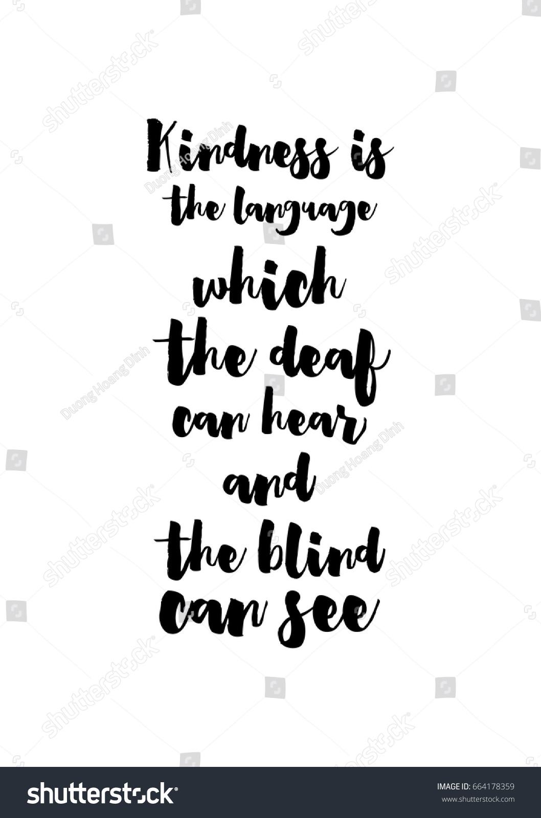 Blind Quotes Lettering Quotes Motivation About Life Quote Stock Vector